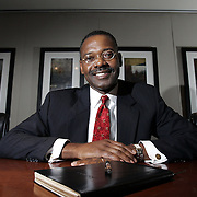 Tarrytown, NY / 2007 - Jean Thomas, president and CEO of Quantitative Research Group started the financial services company after his old offices in the World Trade Center were destroyed in the September 11 terrorist attacks. Since relocating to Tarrytown, he says his client base has steadily increased among major financial companies. ( Mike Roy / The Journal News )