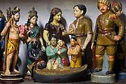 Collection of small figures at a home of Mr. Kannan, Nagaipattinam.
