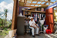 PATILLAS, PUERTO RICO - OCTOBER 9, 2017 -  Jorge Luis Santiago Col&oacute;n sits in what is left oh his bedroom after Hurricane Maria destroyed his home in Patillas, Puerto Rico,close to where the center of Hurricane Maria made landfall. Santiago lived with his wife and son. (Photo/Jos&eacute; Jim&eacute;nez) Through the Iris of Hurricane Mar&iacute;a<br />