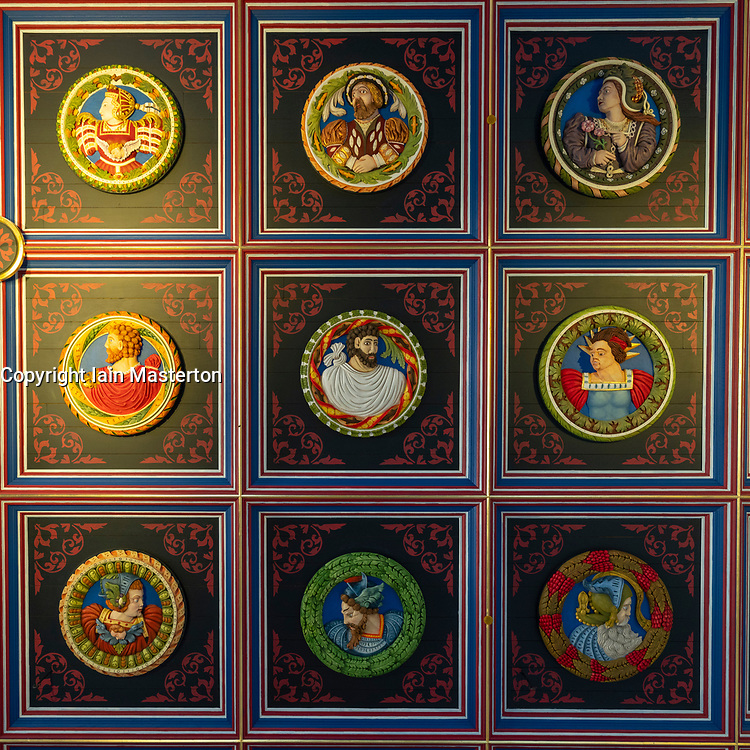 Ceiling detail at Stirling Castle in Stirling , Scotland, UK