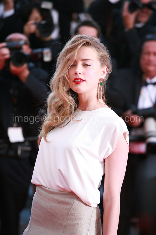 Amber Heard at the Two Days, One Night (Deux Jours, Une Nuit) gala screening red carpet at the 67th Cannes Film Festival France. Tuesday 20th May 2014 in Cannes Film Festival, France.