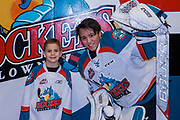 KELOWNA, CANADA - FEBRUARY 14:  Pepsi Player of the Game with James Porter #1 of the Kelowna Rockets at the Kelowna Rockets game on February 14, 2018 at Prospera Place in Kelowna, British Columbia, Canada.  (Photo By Cindy Rogers/Nyasa Photography,  *** Local Caption ***