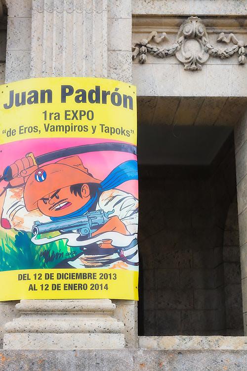 Juan Padron exhibition in Havana Centro, Cuba.