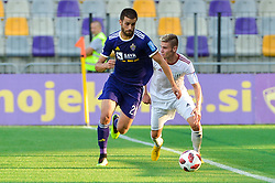 Mitja Viler of NK Maribor vs. Luka Bobicanec of NS Mura during football match between NK Maribor and NS Mura in 2nd Round of Prva liga Telekom Slovenije 2018/19, on July 29, 2018 in Ljudski vrt, Maribor, Slovenia. Photo by Mario Horvat / Sportida