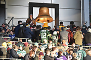 A Bell is sounded in thanks to Military veterans from UK and US during the International Series match between Jacksonville Jaguars and Philadelphia Eagles at Wembley Stadium, London, England on 28 October 2018.