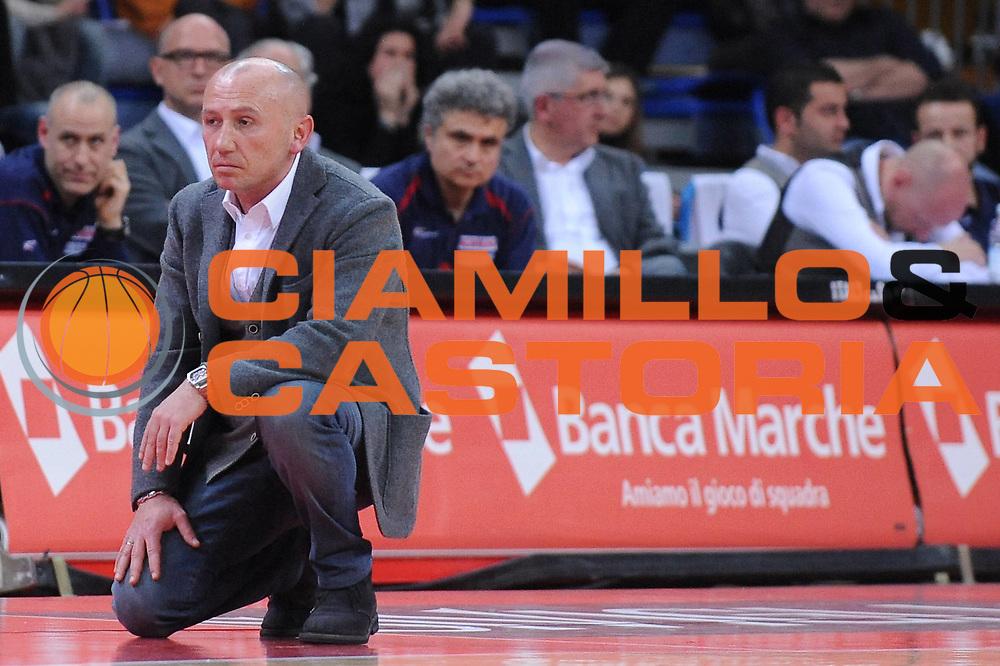 DESCRIZIONE : Pesaro Lega A 2010-11 Scavolini Siviglia Pesaro Benetton Treviso<br /> GIOCATORE : Luca Dalmonte<br /> SQUADRA : Scavolini Siviglia Pesaro<br /> EVENTO : Campionato Lega A 2010-2011<br /> GARA : Scavolini Siviglia Pesaro Benetton Treviso<br /> DATA : 19/03/2011<br /> CATEGORIA : delusione<br /> SPORT : Pallacanestro<br /> AUTORE : Agenzia Ciamillo-Castoria/M.Marchi<br /> Galleria : Lega Basket A 2010-2011<br /> Fotonotizia : Pesaro Lega A 2010-11 Scavolini Siviglia Pesaro Benetton Treviso<br /> Predefinita :