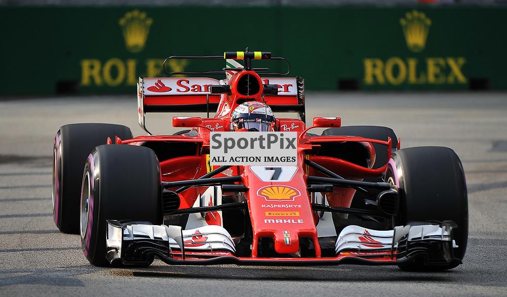 Kimi Raikkonen, Scuderia Ferrari.<br /> Day 2 of the 2017 Formula 1 Singapore Airlines, Singapore Grand Prix held at The Marina Bay street circuit, Singapore on the 15th September 2017.<br /> Wayne Neal | SportPix.org.uk