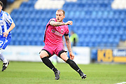 Hartlepool player Lewis Alessandra try to stop a player passing the ball in the first half during the EFL Sky Bet League 2 match between Colchester United and Hartlepool United at the Weston Homes Community Stadium, Colchester, England on 25 February 2017. Photo by Ian  Muir.
