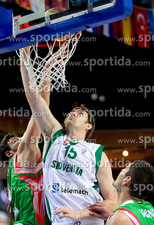 Erazem Lorbek of Slovenia during basketball match between National teams of Slovenia and Bulgaria in Group D of Preliminary Round of Eurobasket Lithuania 2011, on August 31, 2011, in Arena Svyturio, Klaipeda, Lithuania.   Slovenia defeated Bulgaria 67 - 59. (Photo by Vid Ponikvar / Sportida)