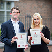 24.05.2018.       <br /> The Limerick Institute of Technology with Atlantic Air Adventures and funding from the Aviation Skillnet presented over forty certificates to Aviation professionals who have completed the Certificate in Aviation, The Aircraft Records Technician Level 7 and Part 21 Design, Level 7.<br /> <br /> Pictured at the event were, Aviation in Special Purpose Award recipients from GECAS, Niall Rea and Aisling Hanrahan.<br /> <br /> LIT in partnership with Atlantic Air Adventures, CAE Parc Aviation, Part 21 Design and industry experts such as Anton Tams, GECAS, Don Salmon, CAE Parc Aviation and Mick Malone, Part 21 Design have developed and deliver these key training programmes with funding for aviation companies provided by The Aviation Skillnet.<br /> <br /> . Picture: Alan Place