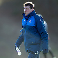 St Johnstone Training…..29.01.16<br />Manager Tommy Wright pictured during training at McDiarmid Park this morning ahead of tomorrow's League Cup semi-final against Hibs at Tynecastle<br />Picture by Graeme Hart.<br />Copyright Perthshire Picture Agency<br />Tel: 01738 623350  Mobile: 07990 594431