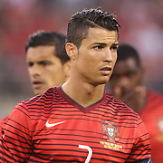 Cristiano Ronaldo, Portugal, during National Anthems before the Portugal V Ireland International Friendly match in preparation for the 2014 FIFA World Cup in Brazil. MetLife Stadium, Rutherford, New Jersey, USA. 10th June 2014. Photo Tim Clayton