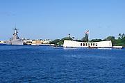 USS Arizona and USS Missouri, Pearl Harbor, Oahu, Hawaii<br />