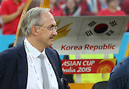 Ulrich Stielike, head coach of Korea Republic during the AFC Asian Cup match at Stadium Australia, Sydney<br /> Picture by Steven Gibson/Focus Images Ltd +61 413 768835<br /> 31/01/2015
