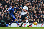 Tottenham Hotspur midfielder Mousa Dembele plays the ball during the Barclays Premier League match between Tottenham Hotspur and Chelsea at White Hart Lane, London, England on 29 November 2015. Photo by Alan Franklin.