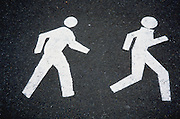 jogger and walker lane signs