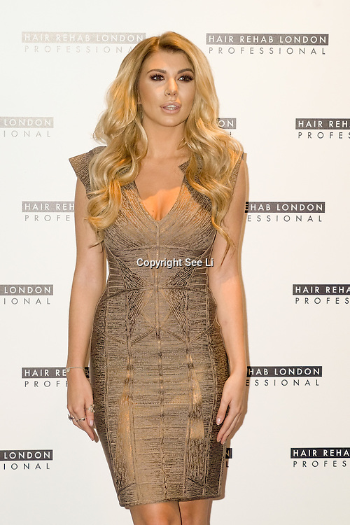 London, England,UK. 10th Oct 2016: Olivia Buckland is launchingThe Luxe Collection for Hair Rehab London Founded by Lauren Pope in London,UK. Photo by See Li