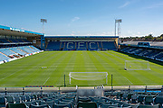 General view inside the Priestfield Stadium from the Brian Moore stand during the EFL Sky Bet League 1 match between Gillingham and Wycombe Wanderers at the MEMS Priestfield Stadium, Gillingham, England on 14 September 2019.