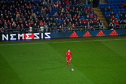 CARDIFF, WALES - Tuesday, November 14, 2017: Wales' Ben Woodburn during the international friendly match between Wales and Panama at the Cardiff City Stadium. (Pic by Peter Powell/Propaganda)