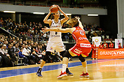 Rebecca Allen of Lyon and Romana Hejdova of Mondeville during the Women's French Championship Basketball match between Lyon Asvel Feminin and USO Mondeville on January 26, 2018 at Palais des Sports de Gerland in Lyon, France - Photo Romain Biard / ISports / ProSportsImages / DPPI