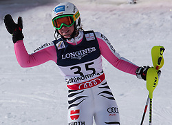 08.02.2013, Planai, Schladming, AUT, FIS Weltmeisterschaften Ski Alpin, Super Kombination, Slalom, im Bild Veronique Hronek (GER) // Veronique Hronek of Germany reacts after Ladies Super Combined Slalom at the FIS Ski World Championships 2013 at the Planai Course, Schladming, Austria on 2013/02/08. EXPA Pictures © 2013, PhotoCredit: EXPA/ Sammy Minkoff