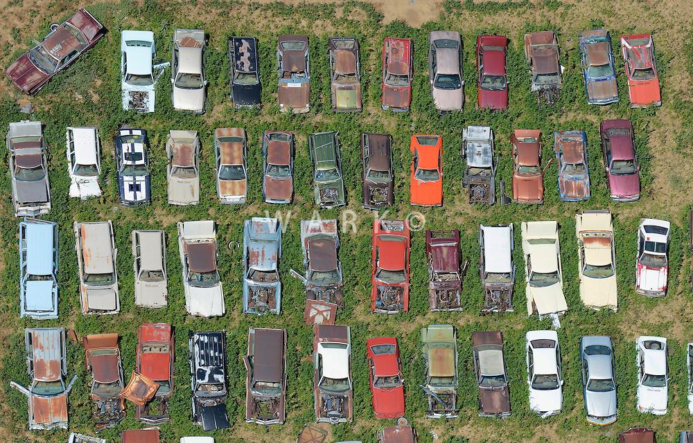 Car junkyard near Dacono, Colorado. June 2014. 85384