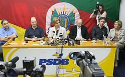 A governadora eleita do Rio Grande do Sul Yeda Crusius durante coletiva de imprensa na sede do PSDB-RS.FOTO: Jefferson Bernardes/Preview.com