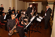 Claude Licien Thomas (right) directs the Stivers School for the Arts Jazz Orchestra during the Governor's Awards for the Arts in Ohio & Arts Day Luncheon at the Athenaeum in downtown Columbus, Ohio, Wednesday, May 11, 2011.