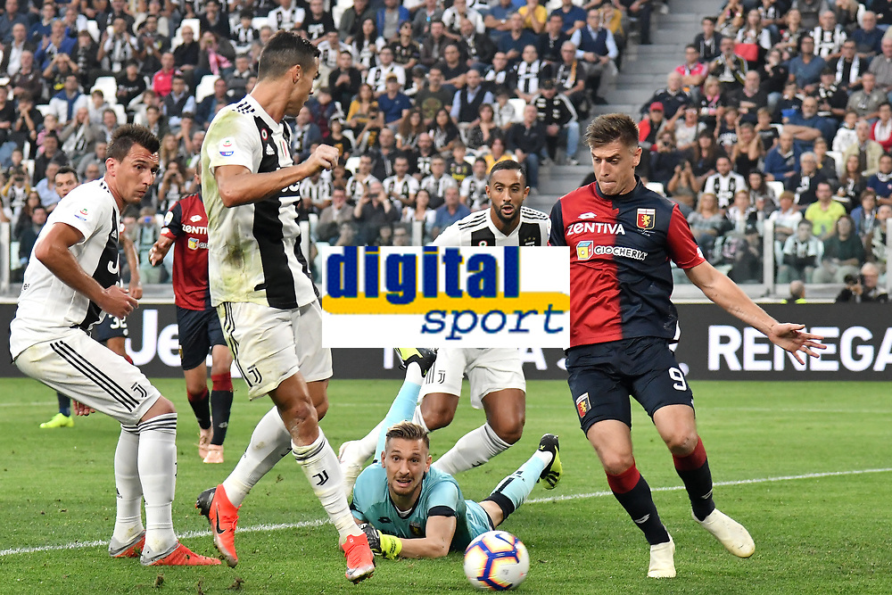 Cristiano Ronaldo of Juventus scores goal of 1-0 during the Serie A 2018/2019 football match between Juventus and Genoa CFC at Allianz Stadium, Turin, October, 20, 2018 <br />  Foto Andrea Staccioli / Insidefoto