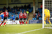 Gillingham FC midfielder Bradley Dack (23) looks to get a free kick into the box during the EFL Sky Bet League 1 match between Gillingham and Shrewsbury Town at the MEMS Priestfield Stadium, Gillingham, England on 28 January 2017. Photo by Andy Walter.