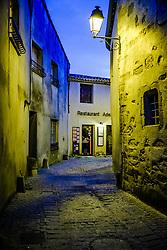 One of many restaurants in the medieval Cit&eacute; de Carcassonne in France<br /> <br /> (c) Andrew Wilson   Edinburgh Elite media