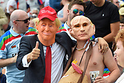 Fans in Donald Trump and Vladamir Putin fancy dress in the Hollies stand during the International Test Match 2019 match between England and Australia at Edgbaston, Birmingham, United Kingdom on 3 August 2019.