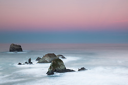 """Dawn at Plaskett Rock 1"" - Photograph of Big Sur's Plaskett Rock at dawn."