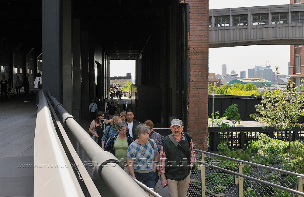 People in High Line Park