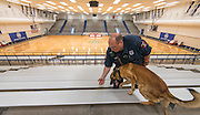 Houston ISD Police Officer R. Frankie and Aries patrol Butler Field House, March 28, 2016