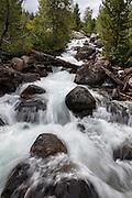 Taggart creek waterfall, Grand Teton National Park