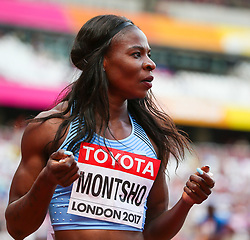 London, 2017 August 06. Amantle Montsho, Botswana at the start of heat six of the Women's 400m  on day three of the IAAF London 2017 world Championships at the London Stadium. © Paul Davey.