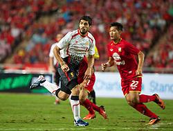 BANGKOK, THAILAND - Sunday, July 28, 2013: Liverpool's Luis Suarez in action against Thailand XI during a preseason friendly match at the Rajamangala National Stadium. (Pic by David Rawcliffe/Propaganda)