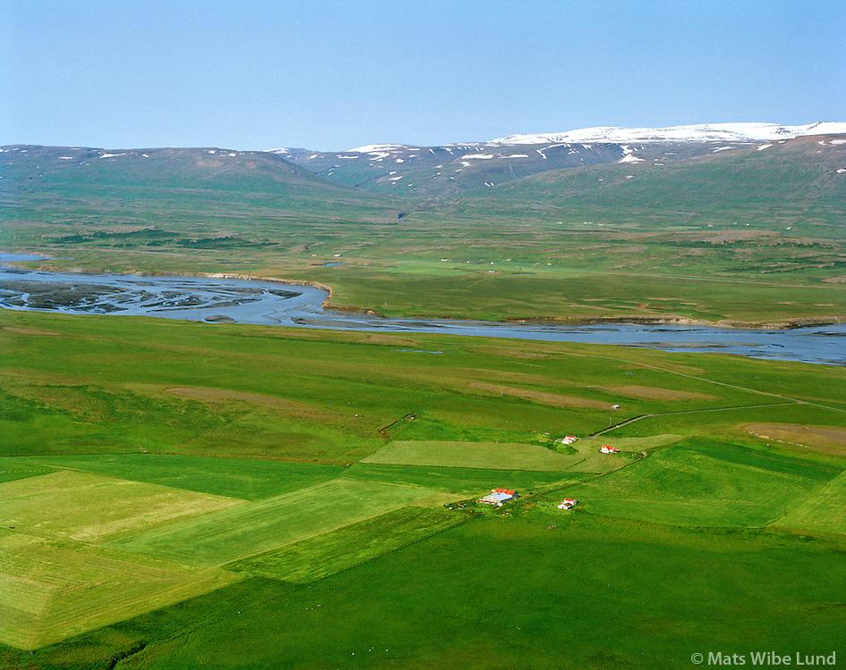 Ytri-Galtastaðir séð til vesturs, Fljótsdalshérað áður Tunguhreppur / Ytri-Galtastadir viewing west, Fljotsdalsherad former Tunguhreppur.