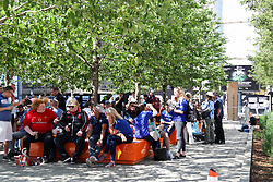 May 19, 2018 - London, England, United Kingdom - Fans at Wembley Stadium  attend The Emirates FA Cup Final between Chelsea and Manchester United at Wembley Stadium on May 19, 2018 in London, England. (Credit Image: © Alex Cavendish/NurPhoto via ZUMA Press)