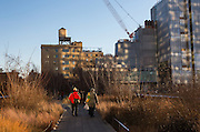 People along the Highline in New York
