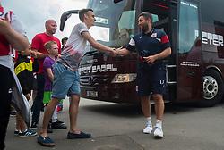 Bristol City head coach Lee Johnson arrives at the Lci Rail Stadium. - Mandatory by-line: Alex James/JMP - 25/07/2017 - FOOTBALL - LCI Rail Stadium - Cheltenham, England - Cheltenham Town v Bristol City - Pre-season friendly