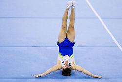 Rok Klavora of Slovenia competes during Qualifications day of Artistic Gymnastics World Cup Ljubljana, on April 26, 2013, in Hala Tivoli, Ljubljana, Slovenia. (Photo By Vid Ponikvar / Sportida.com)