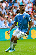 Manchester City striker Gabriel Jesus (9) during the FA Community Shield match between Manchester City and Liverpool at Wembley Stadium, London, England on 4 August 2019.