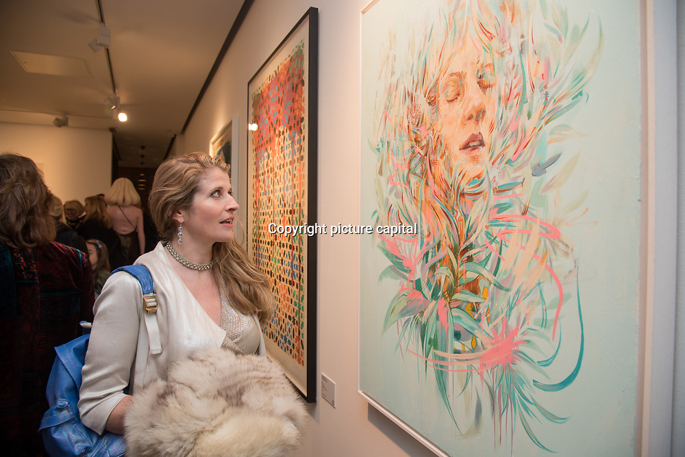 Jude Haste attend the Art On The Mind - Private view of an exhibition and auction which benefits homeless charity, Cardboard Citizens.