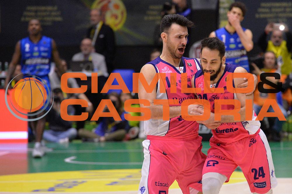 Rok Stipcevic,Brian Sacchetti<br /> Banco di Sardegna Sassari vs Basket Leonessa Brescia<br /> Poste Mobile Final Eight F8 2017 <br /> Lega Basket 2016/2017<br /> Rimini, 18/02/2017<br /> Foto Ciamillo-Castoria / I.Mancini