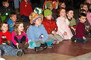 Kids react to Marko the Magician in City Hall Arts Center during First Night 2010 in Montpelier Vermont