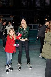 DONNA AIR and her daughter FREYA ASPINALL skating at Skate presented by Tiffany & Co at Somerset House, London on 22nd November 2010.