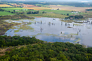 High water at Lake Barney creates issues in rural Dane County, Wisconsin.