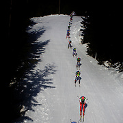 Winter Olympics, Vancouver, 2010.Athletes weave their way through course during the Men's 30km Pursuit Cross Country event at Whistler Olympic Park, Whistler, during the Vancouver Winter Olympics. 20th February 2010. Photo Tim Clayton